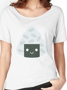 Onigiri Rice Ball Emoji Happy Smiling Face Women's Relaxed Fit T-Shirt