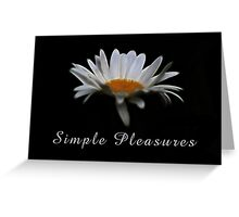 Simple pleasures. Greeting Card