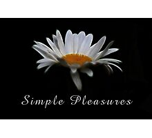 Simple pleasures. Photographic Print