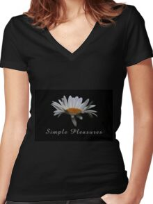 Simple pleasures. Women's Fitted V-Neck T-Shirt
