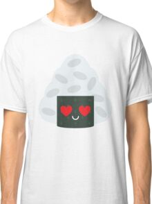 Onigiri Rice Ball Emoji Heart and Love Eye Classic T-Shirt