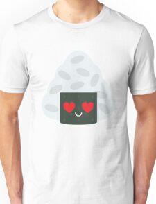 Onigiri Rice Ball Emoji Heart and Love Eye Unisex T-Shirt