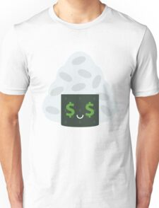Onigiri Rice Ball Emoji Money Face Unisex T-Shirt