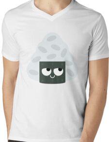 Onigiri Rice Ball Emoji Think Hard and Hmm Mens V-Neck T-Shirt
