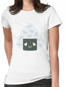 Onigiri Rice Ball Emoji Pretty Please Womens Fitted T-Shirt
