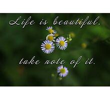 Life is beautiful Photographic Print