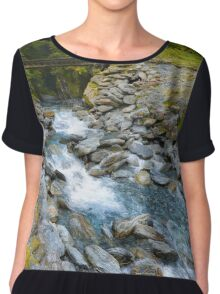 New Zealand Landscape 13 Chiffon Top