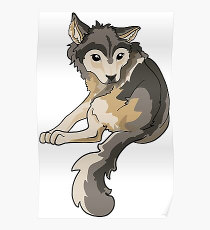 Nymeria Dire Wolf Cub Puppy Poster