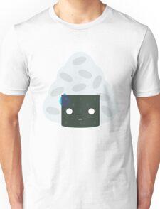 Onigiri Rice Ball Emoji Speechless with Sweat Unisex T-Shirt