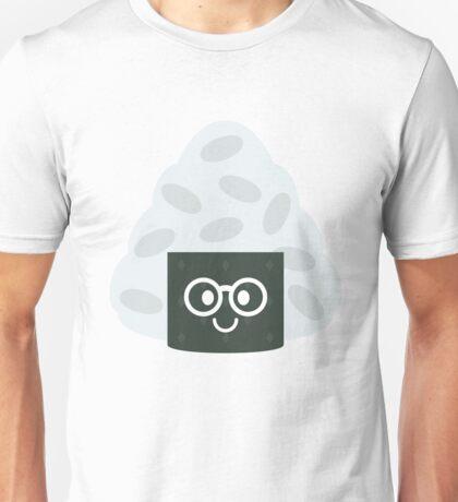 Onigiri Rice Ball Emoji Nerd Noob Glasses Unisex T-Shirt