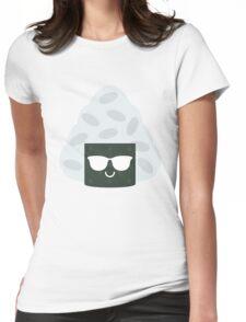 Onigiri Rice Ball Emoji Cool Sunglasses Womens Fitted T-Shirt