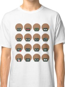 Seaweed Rice Cracker Emoji Different Facial Expression Classic T-Shirt