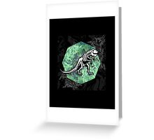 T. Rex Fossil Greeting Card