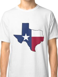 Texas Flag on the Greatest State in America: Texas Classic T-Shirt