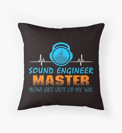 Sound Master Throw Pillow