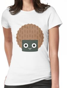 Seaweed Rice Cracker Emoji Shock and Surprise Womens Fitted T-Shirt