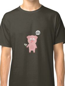 Pig Apologize with flowers Classic T-Shirt
