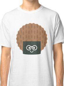 Seaweed Rice Cracker Emoji Nerd Noob Glasses Classic T-Shirt