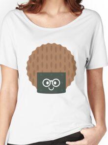 Seaweed Rice Cracker Emoji Nerd Noob Glasses Women's Relaxed Fit T-Shirt