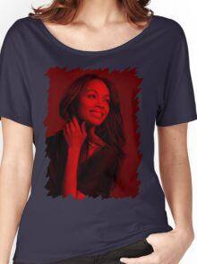 Zoe Saldana - Celebrity Women's Relaxed Fit T-Shirt