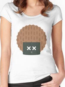 Seaweed Rice Cracker Emoji Faint and Knock Out Women's Fitted Scoop T-Shirt