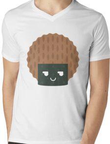 Seaweed Rice Cracker Emoji Cheeky and Up to Something Mens V-Neck T-Shirt