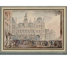 Assassination of Jacques de Flesselles - French Revolution - 1789  Photographic Print