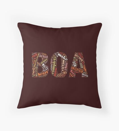 BOA(보아), Kpop star, typography art Throw Pillow