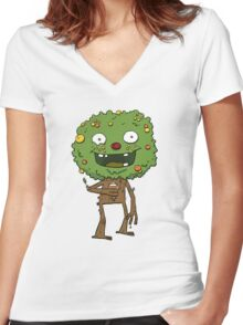 Lambic Beer Monster Women's Fitted V-Neck T-Shirt