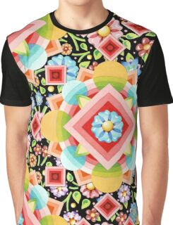 Ombre Chintz Bouquet Graphic T-Shirt