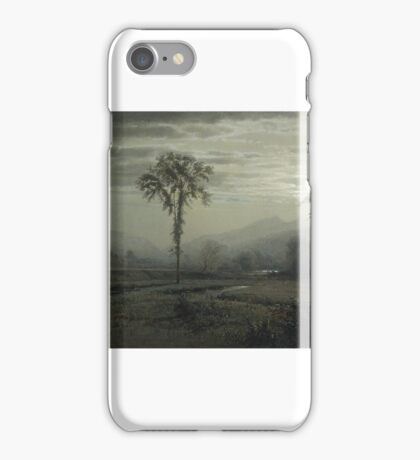 Moonlight on Mount Lafayette, New Hampshire , william Trost Richards iPhone Case/Skin