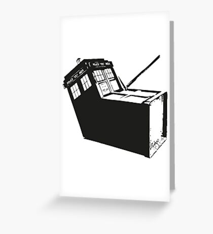 Murdered Tardis - (Reported missing next Tuesday) Greeting Card