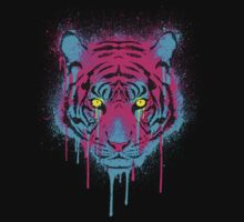 CMYK tiger One Piece - Short Sleeve