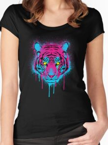 CMYK tiger Women's Fitted Scoop T-Shirt