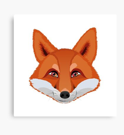 The head of a fox.  Canvas Print