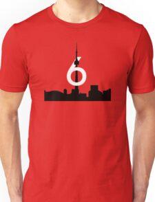 "Drake Toronto Skyline Silhouette ""The 6"" (Grey) Unisex T-Shirt"