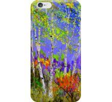 Green birch trees iPhone Case/Skin