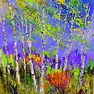 Green birch trees by calimero