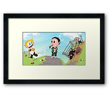Run you Fool! Framed Print