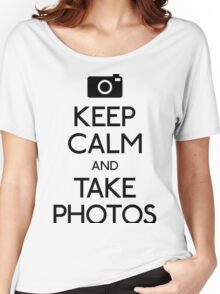 Keep Calm And Take Photos- i love photography shirt Women's Relaxed Fit T-Shirt