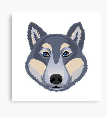 The head of a wolf.  Canvas Print