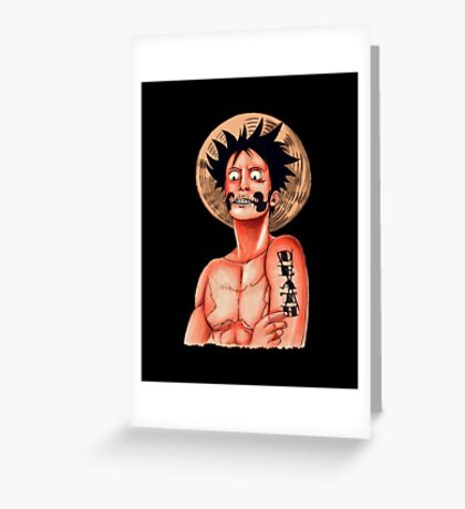 Luffy Colored Greeting Card