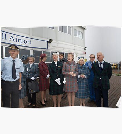 Piper Archer plane is named Julie - The spirit of British Caledonian at  London Biggin Hill Airport Poster