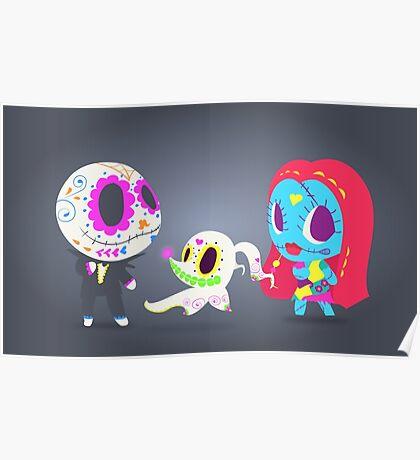 Nightmare Before Christmas Trio | PopMuertos 2017 Poster