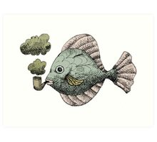 Fish Pipe Art Print