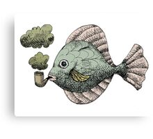 Fish Pipe Canvas Print