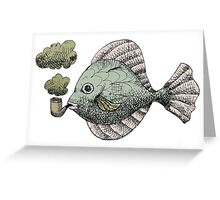 Fish Pipe Greeting Card
