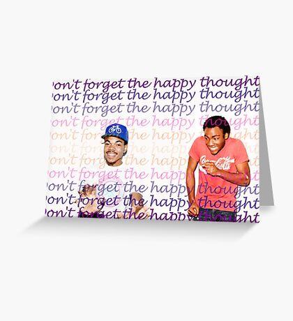 Don't Forget the Happy Thoughts Greeting Card