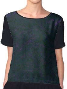 Smeared Black Ink Chiffon Top