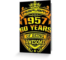 awesome 60 years Greeting Card